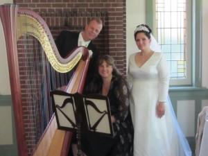 bruiloft met harpmuziek